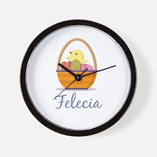 Easter Basket Felecia Wall Clock