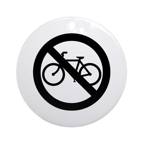 No Bicycles Ornament (Round)