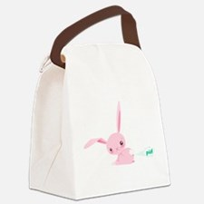 Cute Bunny Poots Canvas Lunch Bag
