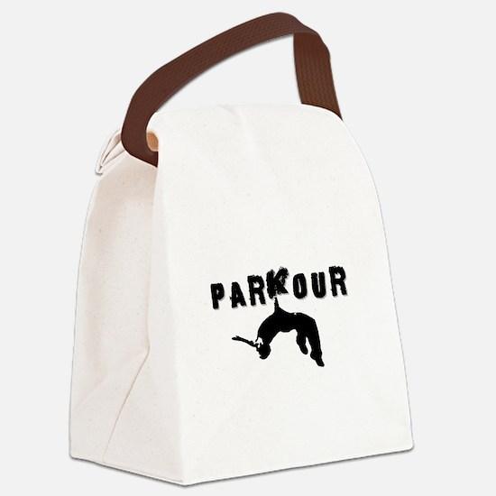 Parkour Athlete Canvas Lunch Bag