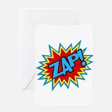 Hero Zap Bursts Greeting Card