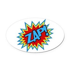 Hero Zap Bursts Oval Car Magnet