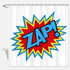 Hero Zap Bursts Shower Curtain