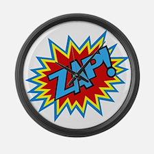 Hero Zap Bursts Large Wall Clock