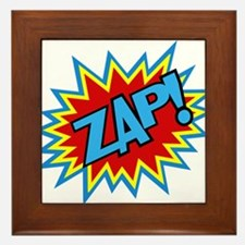 Hero Zap Bursts Framed Tile