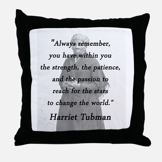Tubman - Within You Throw Pillow