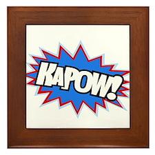 Hero KaPow Bursts Framed Tile