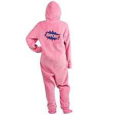 Hero KaPow Bursts Footed Pajamas