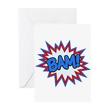 Hero Bam Bursts Greeting Card