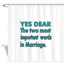 Yes Dear. The two most imporant words in Marriage.