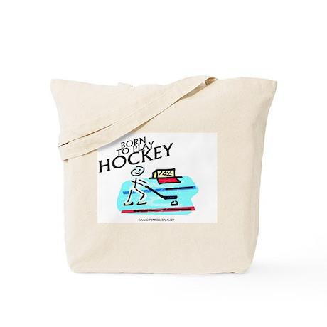 Born To Play Hockey Tote Bag