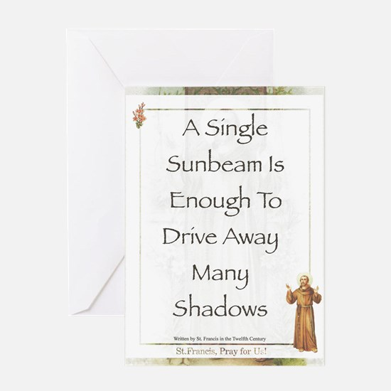 Saint Pope Francis Simple Prayer Greeting Card