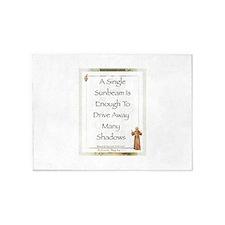 Saint Pope Francis Simple Prayer 5'x7'Area Rug