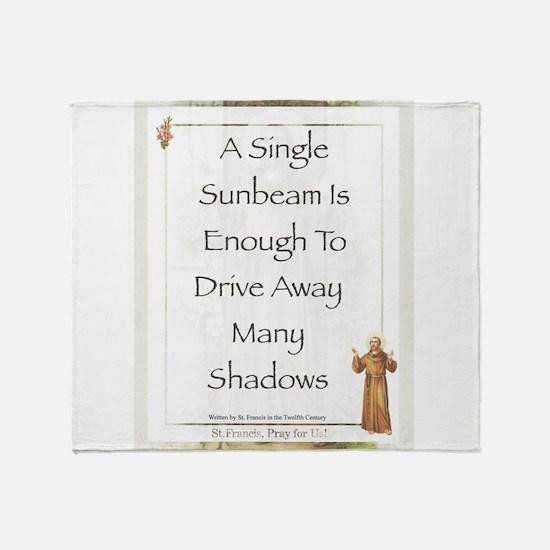 Saint Pope Francis Simple Prayer Throw Blanket