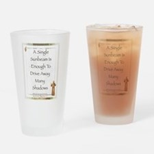 Saint Pope Francis Simple Prayer Drinking Glass