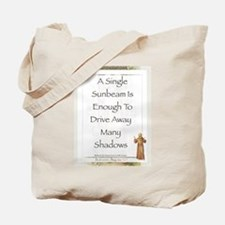 Saint Pope Francis Simple Prayer Tote Bag