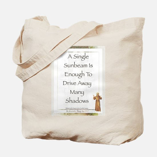 Saint Pope Francis Simple Prayer Tote Bag