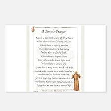 Saint Pope Francis Simple Prayer Postcards (Packag