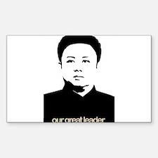 Kim Jong Il Rectangle Decal