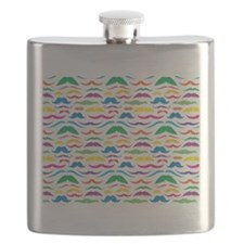 Mustach Color Pattern Flask