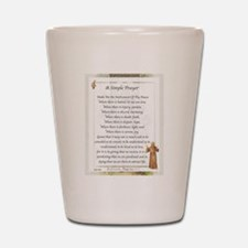 Saint Pope Francis Simple Prayer Shot Glass