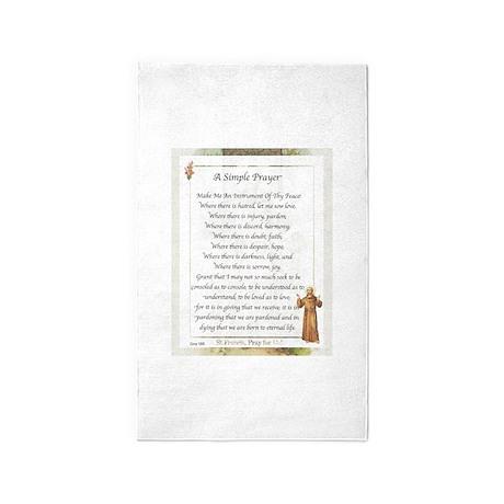 Saint Pope Francis Simple Prayer 3'x5' Area Rug