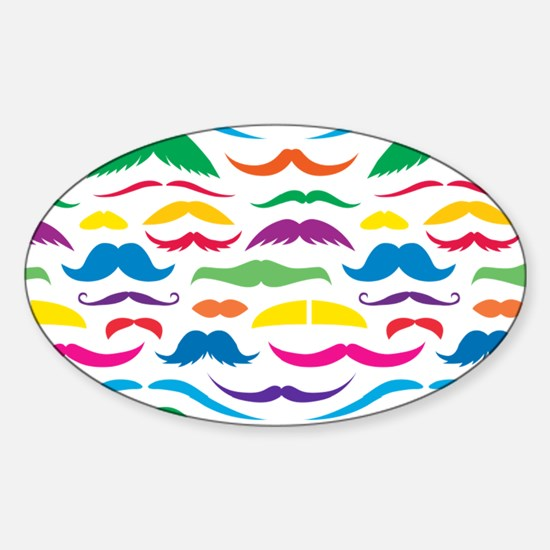 Mustache Color Pattern Decal