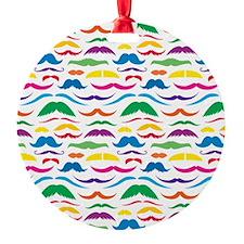 Mustache Color Pattern Ornament