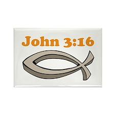 John 316 Rectangle Magnet (100 pack)