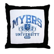 Myers last name University Class of 2014 Throw Pil