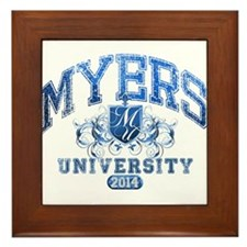 Myers last name University Class of 2014 Framed Ti