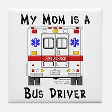 Bus Driver Mom Tile Coaster