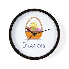 Easter Basket Frances Wall Clock