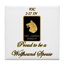 Proud Wolfhound Spouse Tile Coaster