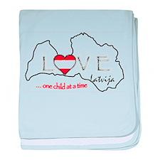 Love Latvja(Latvia)...(L) baby blanket