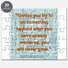 Unless You Try To Do Something - RW Emerson Puzzle