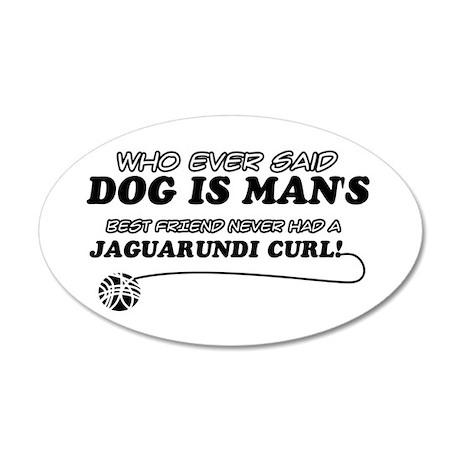 Jaguarundi Curl Cat designs 35x21 Oval Wall Decal