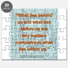 What Lies Behind Us - RW Emerson Puzzle