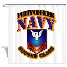 NAVY - PO2 Shower Curtain