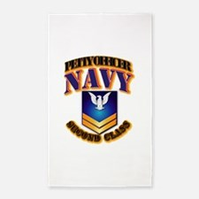 NAVY - PO2 - Gold 3'x5' Area Rug