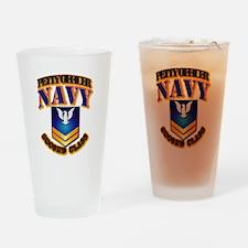 NAVY - PO2 - Gold Drinking Glass