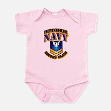 NAVY - PO2 - Gold Infant Bodysuit