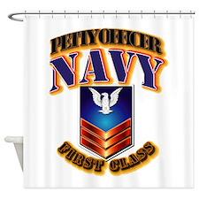 NAVY - PO1 Shower Curtain