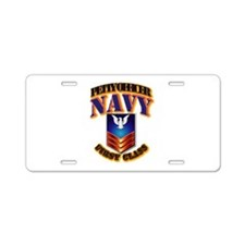 NAVY - PO1 Aluminum License Plate