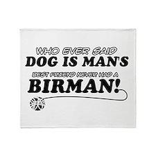 Birman Cat designs Throw Blanket