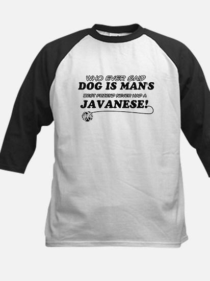 Javanese Cat designs Kids Baseball Jersey
