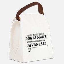 Javanese Cat designs Canvas Lunch Bag
