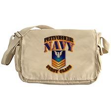 NAVY - PO1 - Gold Messenger Bag