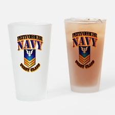 NAVY - PO1 - Gold Drinking Glass