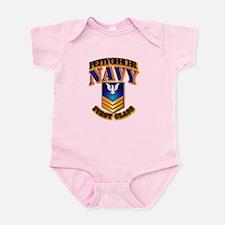 NAVY - PO1 - Gold Infant Bodysuit